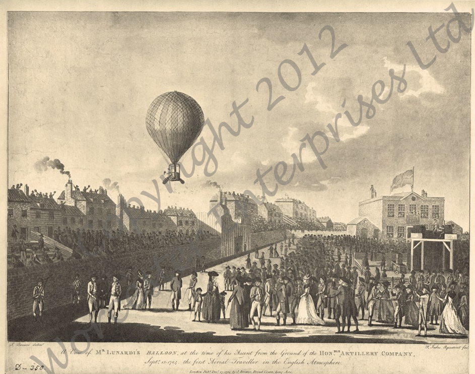 The First Aerial Voyage in Britain: 1784