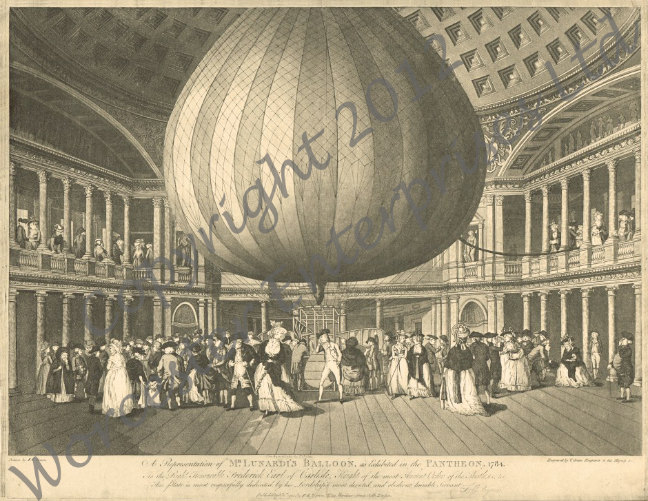 Lunardi's Balloon on Exhibition: 1784