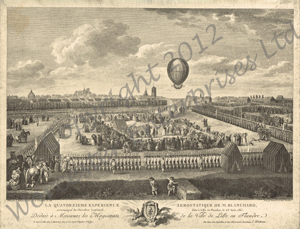 Blanchards acsent at Lille 1785