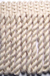 8540 01 - 10cm Natural Cotton Bullion Fringe on 12.5m cards